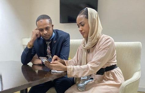 Jamal Gadaffi with Tanasha