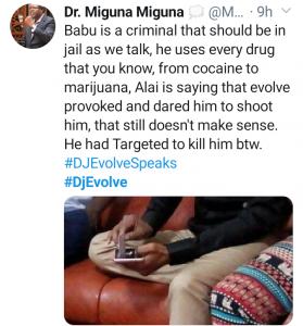 migunamiguna on twitter babu Owino DJ Evolve