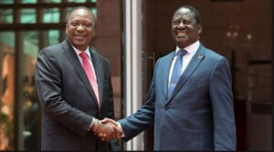 Uhuru kenyatta Raila Odinga handshake