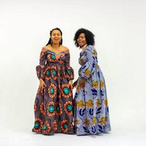modern Kitenge design for long dresses