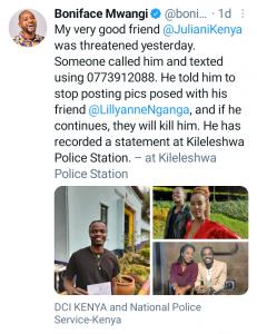Boniface Mwangi Twitter